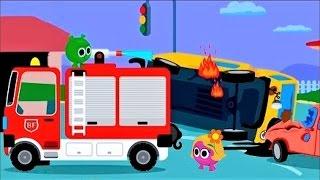 Мультики про #машинки для детей 🚒 #Пожарная машина #Мультфильм - Пожарный Би видео для детей 2017