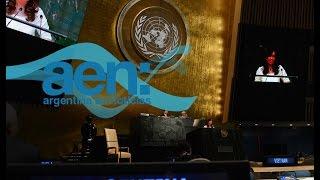 La Presidenta en la ONU - Fondos Buitre y Causa Amia en la agenda - AEN 29-09 18HS.