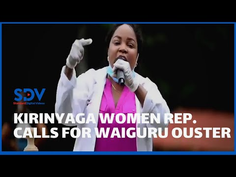 Waiguru abandoned? Kirinyaga Women representative announces support for Waiguru ouster