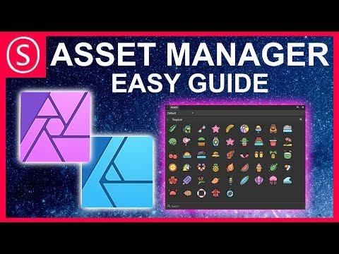 Asset Manager - Easy Guide // Affinity Photo, Affinity Designer & Affinity Publisher