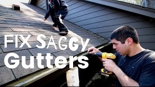 How To Fix Sagging Gutters