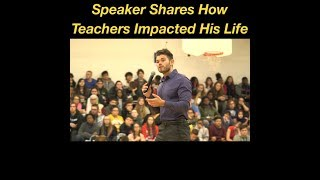 Motivational Speaker Talks About Addiction and Gives Thanks to Teachers and Educators