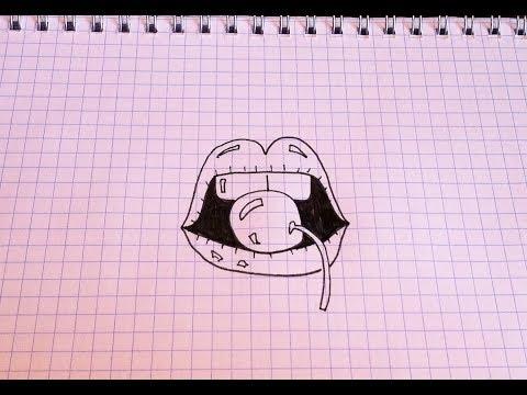 Рисунок по Клеточкам #4 Смайлик влюблённый