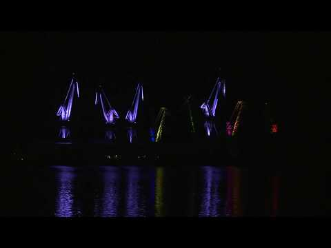 SKIRA Shipyard cranes - Lighting Giants in Pula