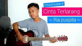 (TUTORIAL GITAR) Cinta Terlarang - Ria Puspita | Chord Mudah !!!