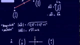 Core 4 - Vectors (1) - (Basics, Notation, 2D, 3D direction and position, magnitude and unit) C4