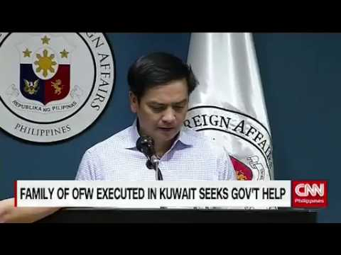 OFW executed in Kuwait