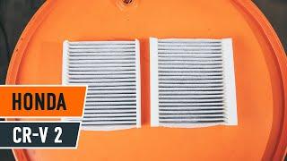 Como mudar Filtro de ar do habitáculo HONDA CR-V II (RD_) - tutoriais