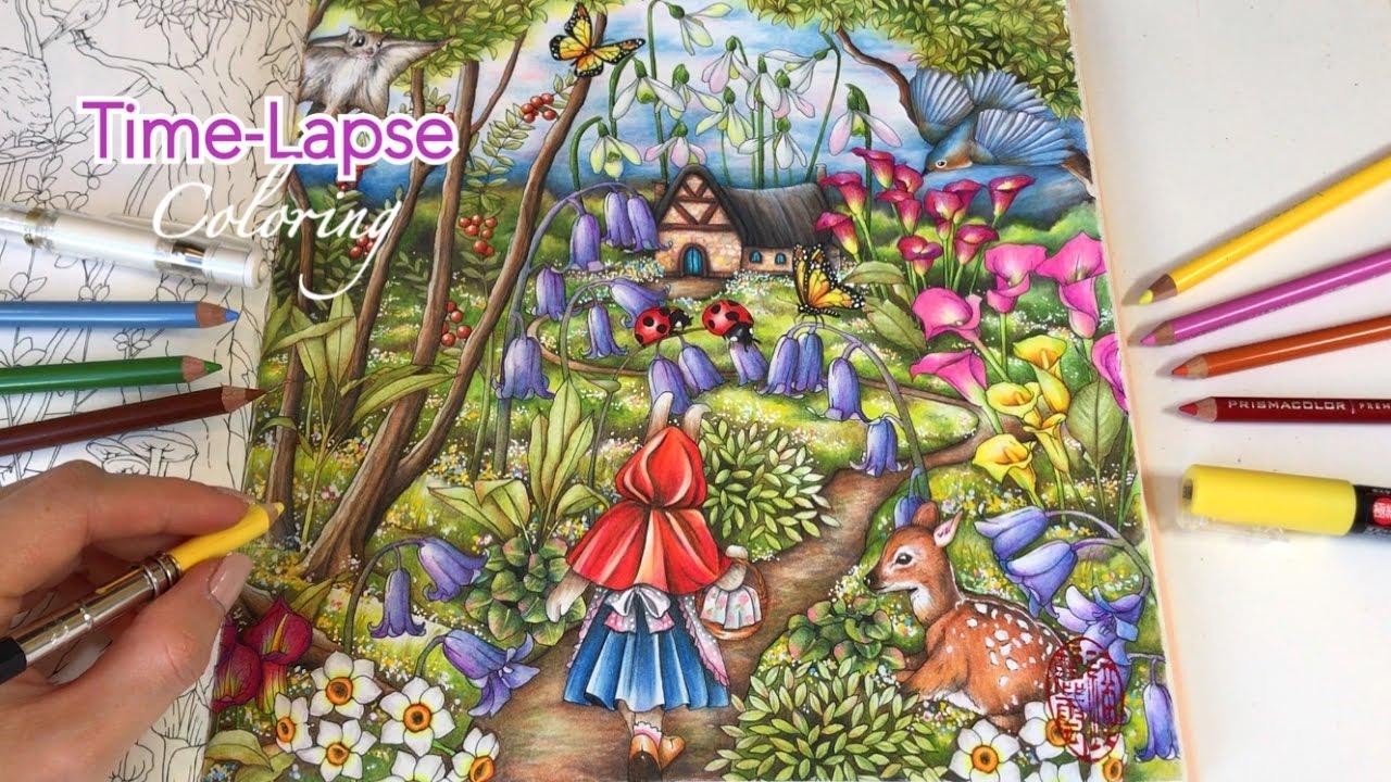 Time Lapse Coloring Into The Garden Menuet De Bonheur