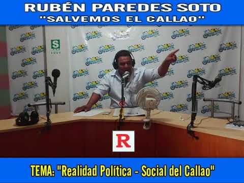 """RUBÉN PAREDES SOTO: """"REALIDAD POLÍTICA - SOCIAL DE LA REGIÓN CALLAO 2018"""""""