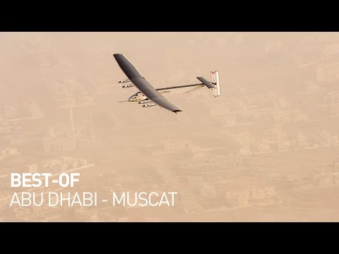 Solar Impulse Airplane - Best of First Round-The-World Solar Flight Departure, Abu Dhabi - Oman