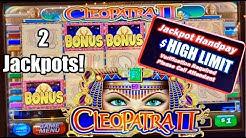 🔥Cleo 2 Bonus Rounds | RETRIGGER High Limit $20 Bets | Caesars Palace Las Vegas