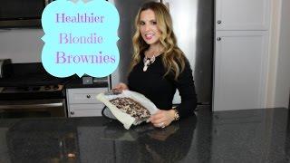 Healthier Blondie Brownies