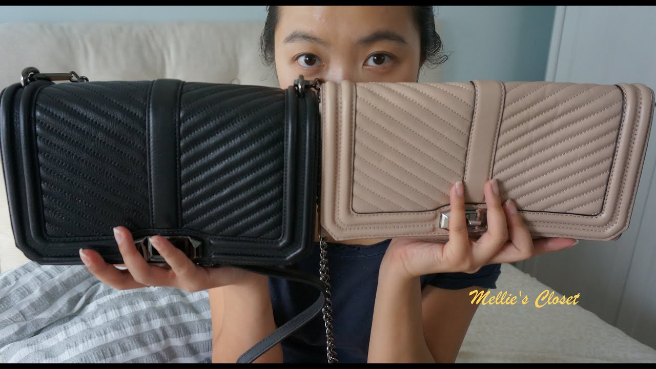 united kingdom exquisite style hot sales Review: Rebecca Minkoff Love Chevron Quilted Crossbody & Clutch ...