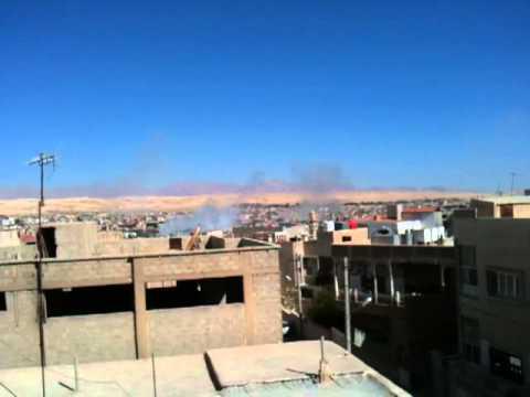 القصف العنيف الذي استهدف  مدينة النبك12/4/2013