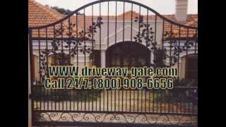 Driveway-iron-gates !! Call For Order 24/7: (800) 908-6656