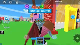 Aku main roblox yang ice cream loh serum😁