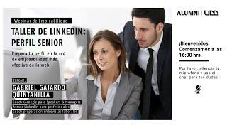 Taller de LinkedIn Perfil Senior