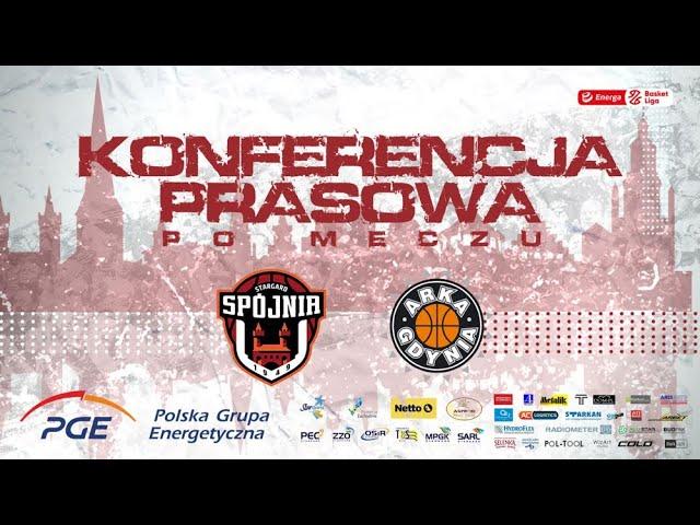 Konferencja prasowa po meczu PGE Spójnia Stargard -  Arka Gdynia
