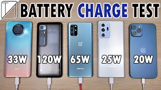 Redmi Note 9 Pro 5G vs Mi 10 Ultra /OnePlus 8T /Note 20 Ultra /iPhone 12 Pro Max Charging Speed Test