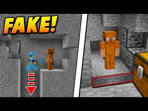 FAKE LEATHER ARMOR SKIN TROLL! - Minecraft SKYWARS TROLLING (NOOB TRAP!)