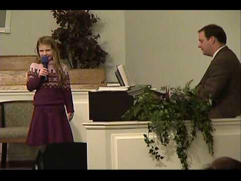 Faith Davis singing When He Cometh January 2009