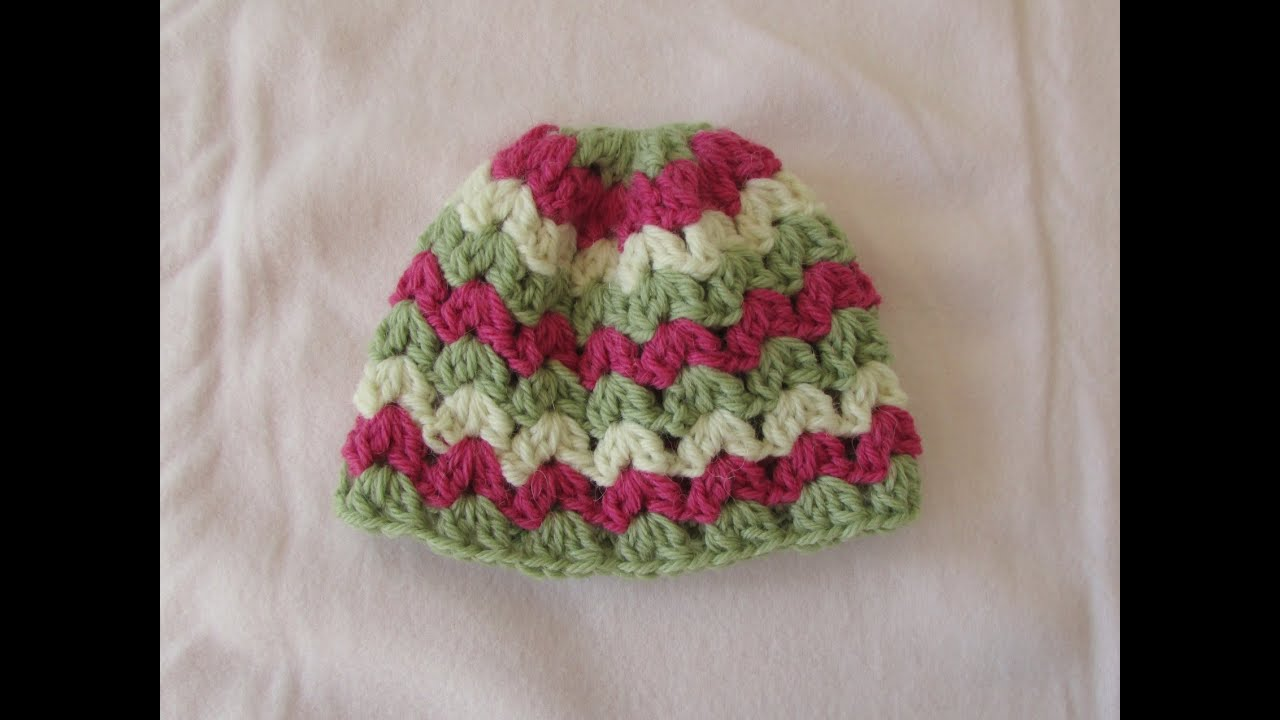 VERY EASY crochet cluster baby hat tutorial - crochet hat ...