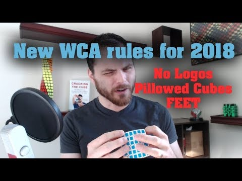 New WCA rules - No Logos for Blind, Pillowed Cubes, and more
