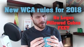 New WCA rules No Logos for Blind Pillowed Cubes and more