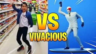"NEW FORTNITE BAILES ""VIVACIOUS"" & ""HITCHHIKER"" IN REAL LIFE"