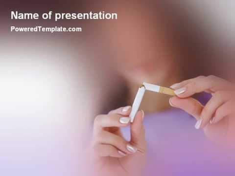 Quit Smoking Powerpoint Template By Poweredtemplate