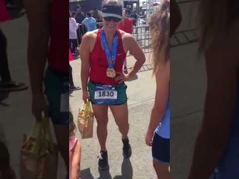 Christine's big finish marathon 2018