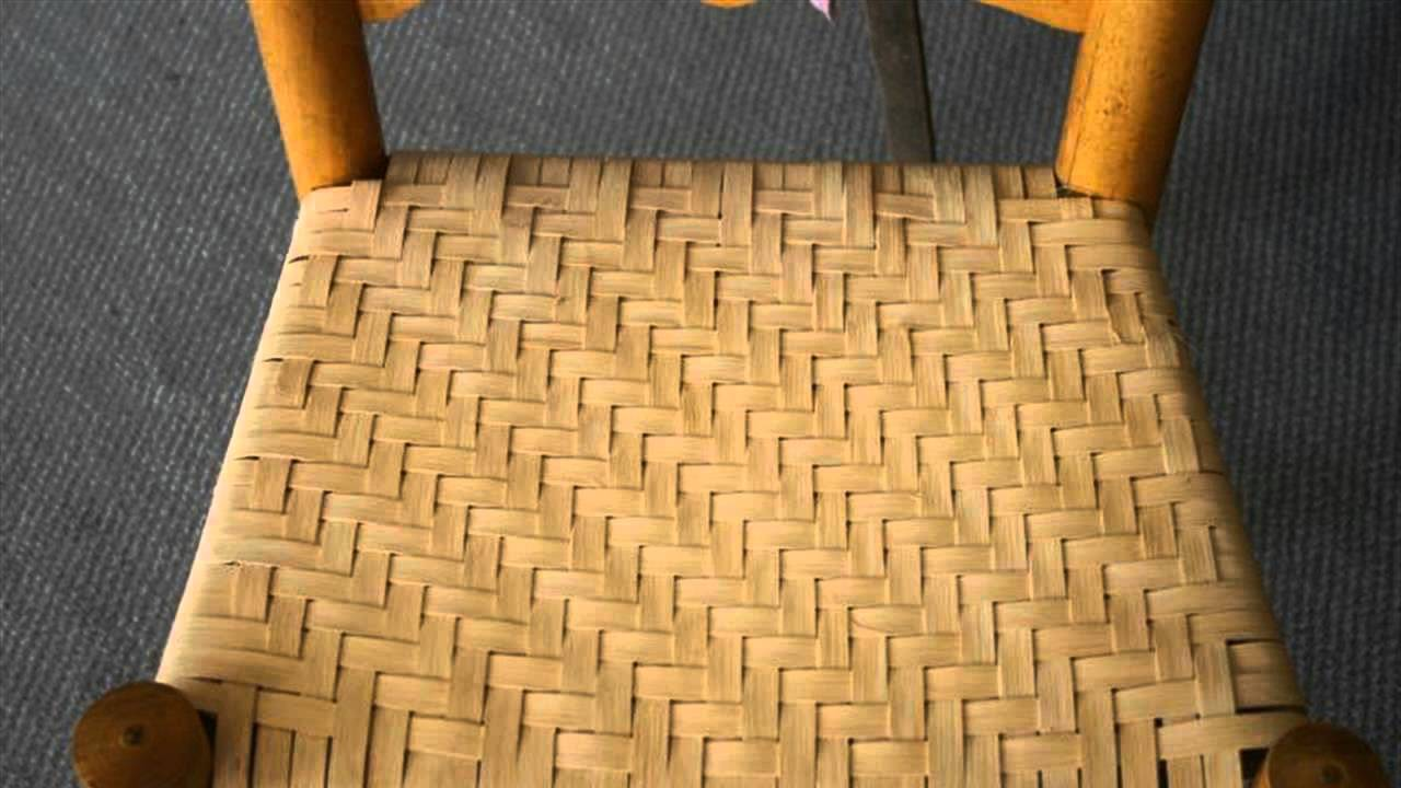 Exceptionnel Instructions For Chair Seat Weaving   YouTube