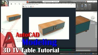 3D Tv Table Tutorial With AutoCAD