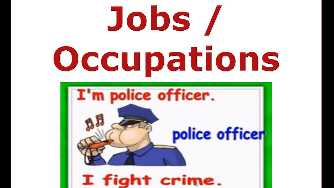Jobs And Occupations Vocabulary English For Children Esl Kids