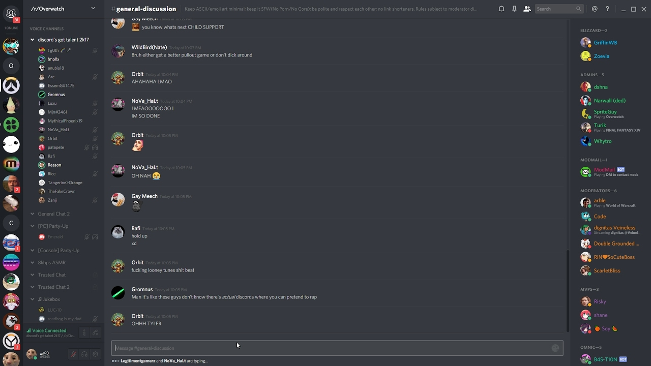 /r/Overwatch Discord got talent 2k17