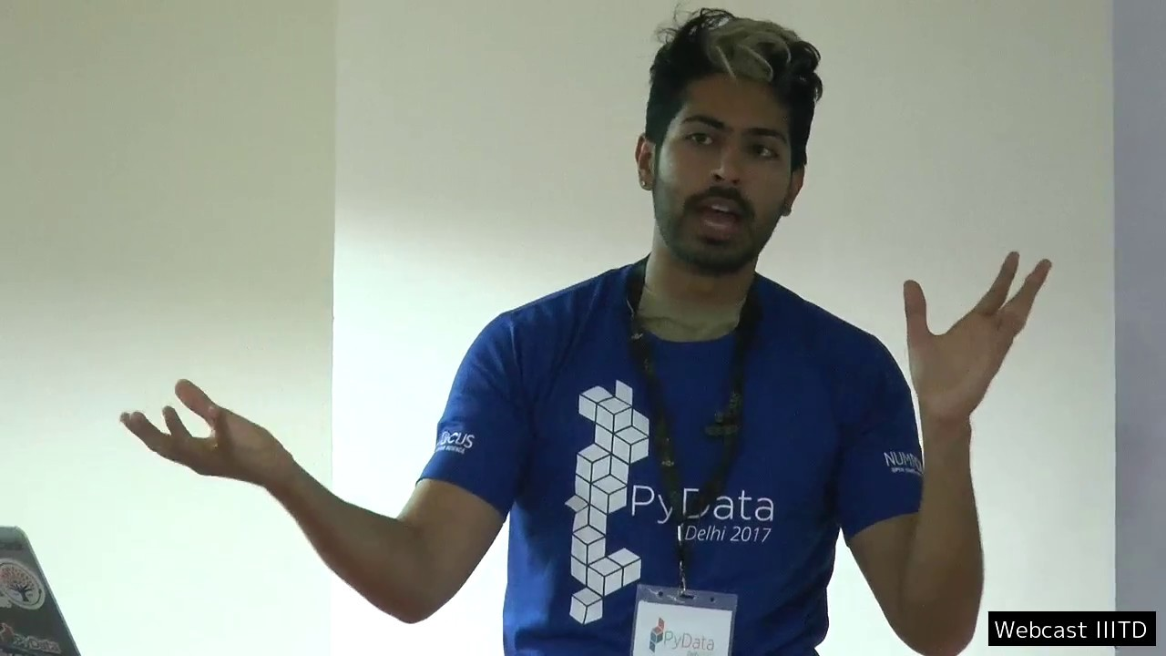 Image from PyData Delhi 2017 - Day 1