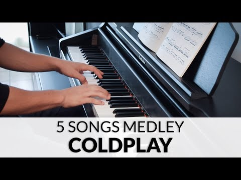 Coldplay - 5 Songs Piano Solo Medley