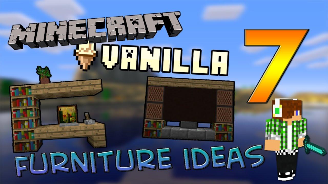 Minecraft Vanilla 7 Furniture Ideas Arredamento