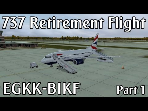 Boeing 737-400 Retirement Flight | EGKK - BIKF | Prepar3D (Part 1)