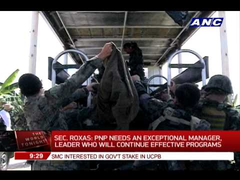Roxas: PNP needs an exceptional manager