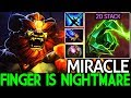 Miracle- [Lion] 20 Stack Finger is Nightmare Solo Mid Gameplay 7.21 Dota 2