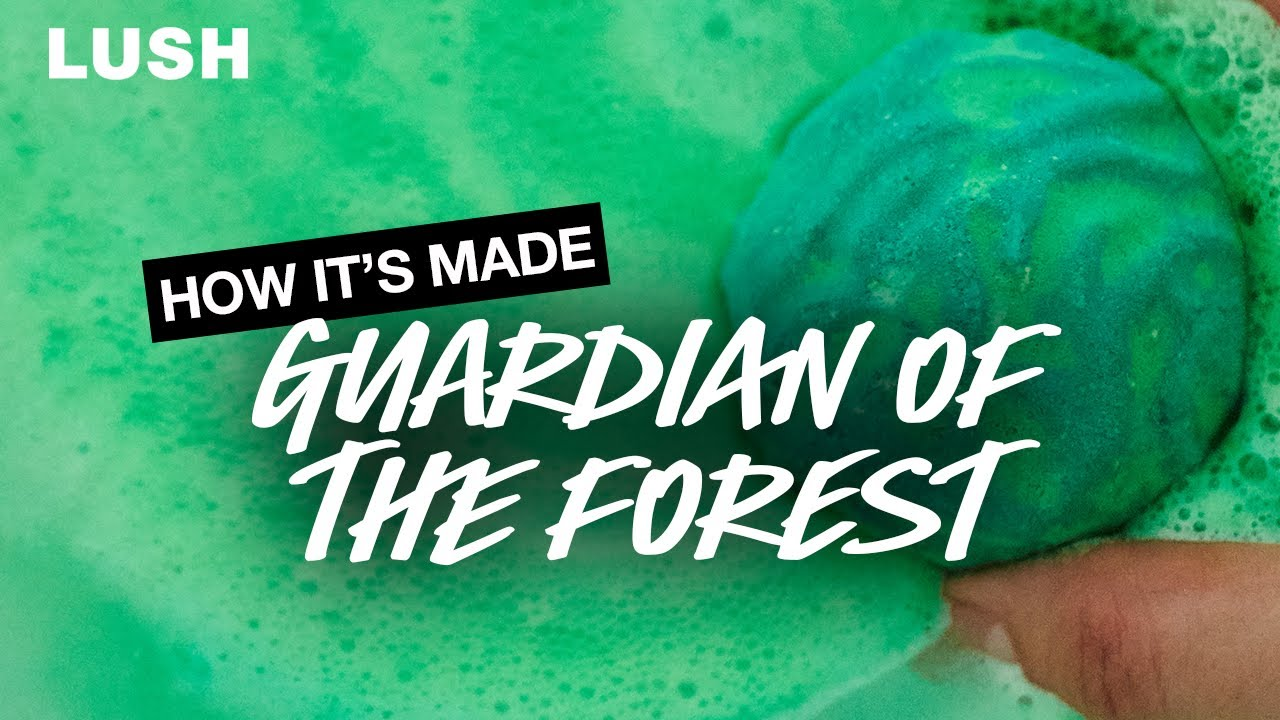 Lush How It's Made: Guardian Of The Forest Bath Bomb