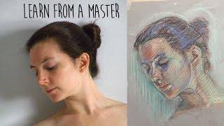 PASTEL TECHNIQUE for COLOURFUL figure and portrait drawing - Degas tutorial