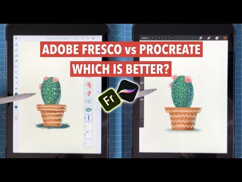 Adobe Fresco Vs Procreate: I Didn´t Expect That | IPadPro Art Software Review And Comparation