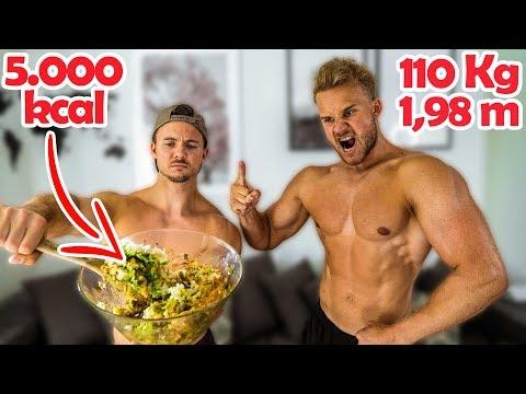 Ich esse 1 Tag lang wie mein 110 Kg schwerer Freund | 5000 kcal