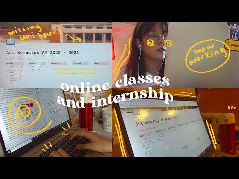 Uni Vlog: Online Classes & Internship ✨ / Up Diliman Engineering