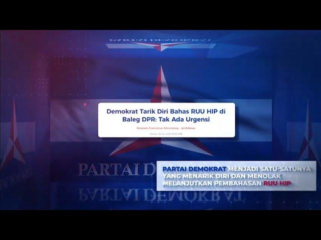 Partai Demokrat Tolak Bahas RUU Haluan Ideologi Pancasila