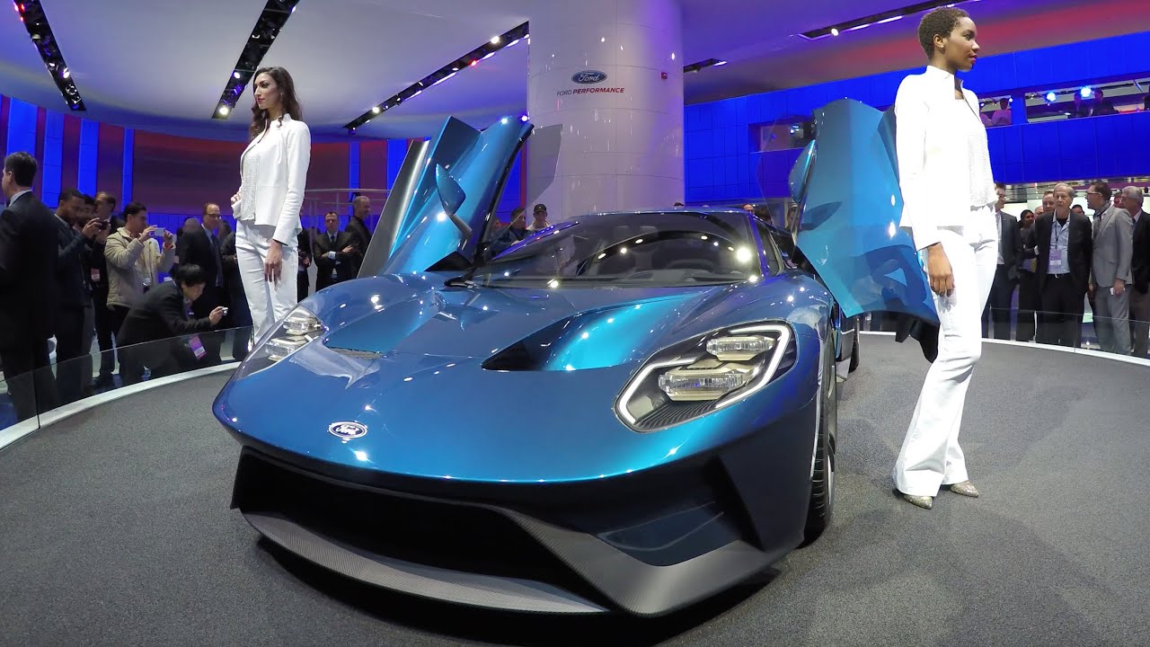 Ford Gt At Naias  Detroit Auto Show K