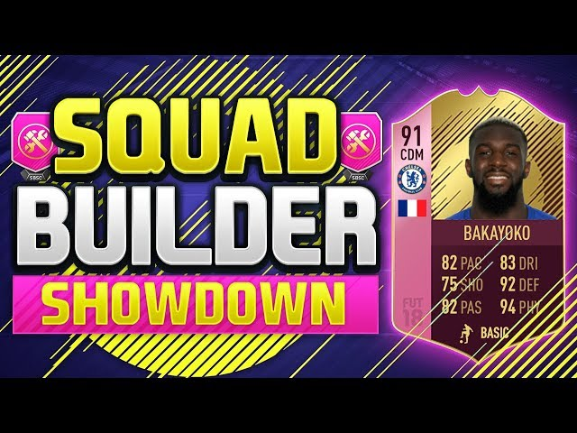 FIFA 18 SQUAD BUILDER SHOWDOWN!!! FUTTIES BAKAYOKO!!! 91 Rated Pink Bakayoko Squad Builder Showdown